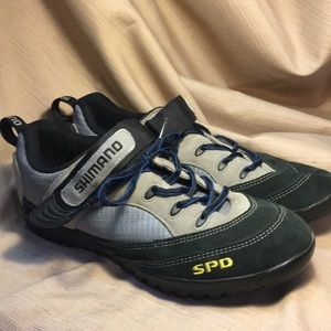 Shimano SPD cycling shoes with clips
